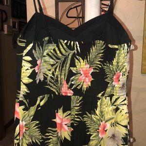 Xhilaration Pants - Floral jumpsuit